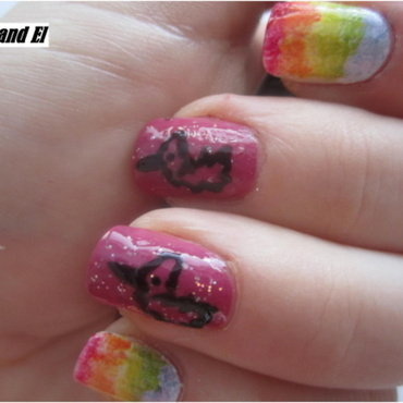 09 RAINBOW nails nail art by NailsandEl