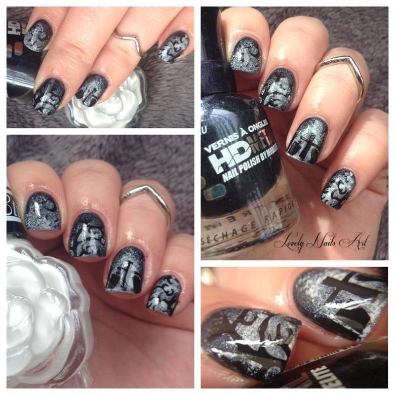 Nail art stamping *cimetière  nail art by Lovely Nail's  Art