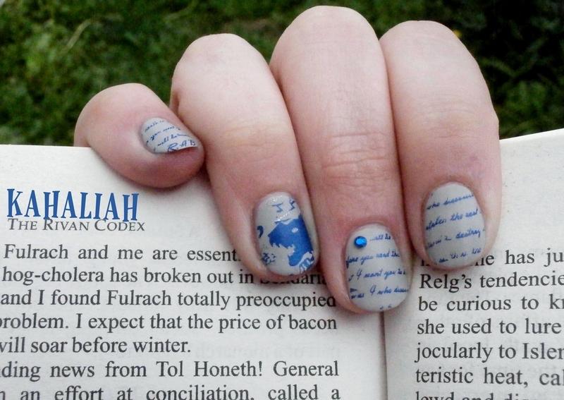 Heroic fantasy nail art by Kahaliah