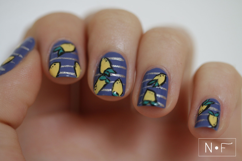 When life gives you lemons nail art by NerdyFleurty