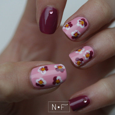 Orchids or pansies? nail art by NerdyFleurty