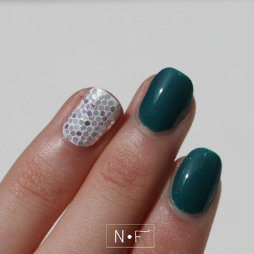 Glitter placement nail art by NerdyFleurty