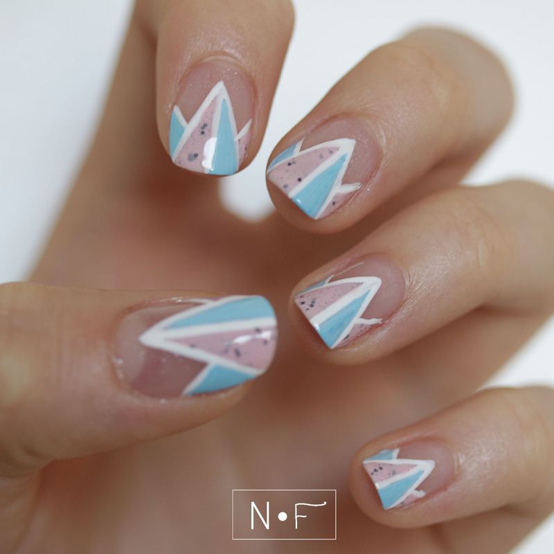 Twisted French nail art by NerdyFleurty
