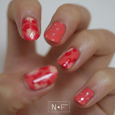 One stroke flowers nail art by NerdyFleurty
