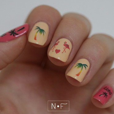 Hawaii nail tattoos nail art by NerdyFleurty