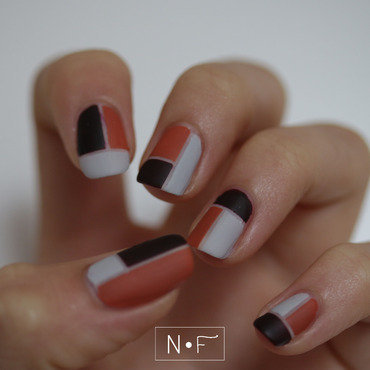 Colour blocking my way through fall nail art by NerdyFleurty
