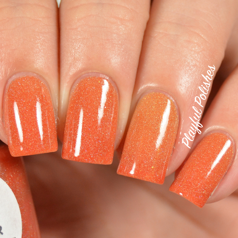 Leesha's Lacquer Cempazuchitl Swatch by Playful Polishes