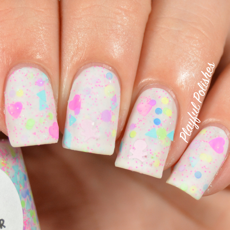 Leesha's Lacquer Calavera de Azucar Swatch by Playful Polishes
