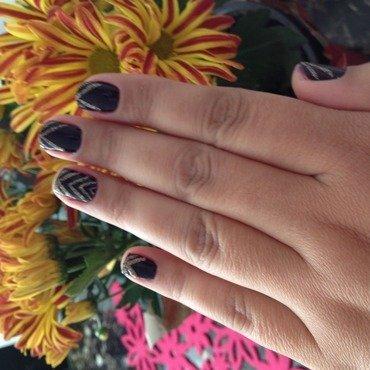 Purple gold nail art by Elyana