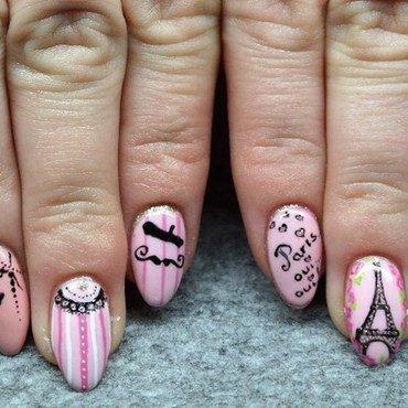 Paris nail art nail art by Agnieszka