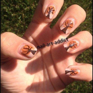 Nail Art : Automne nail art by SowNails