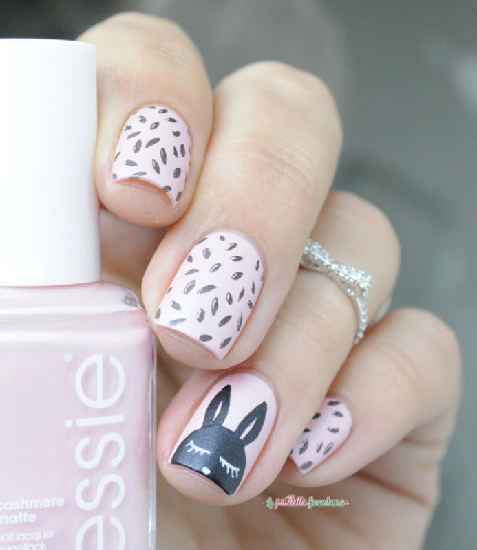 cutie bunny nail art by nathalie lapaillettefrondeuse