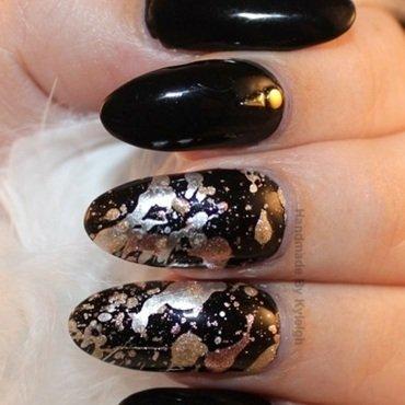 Splat! nail art by  Kyleigh  'Handmade By Kyleigh'