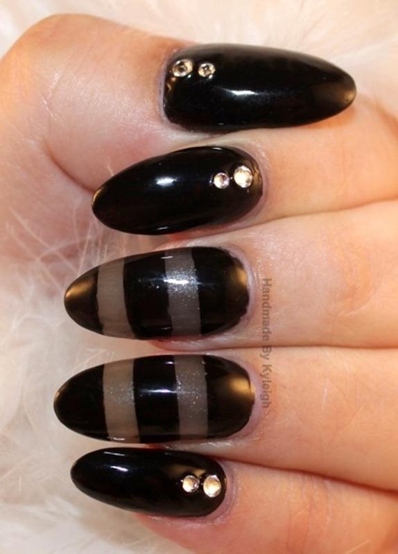 Simple Elegance nail art by  Kyleigh  'Handmade By Kyleigh'