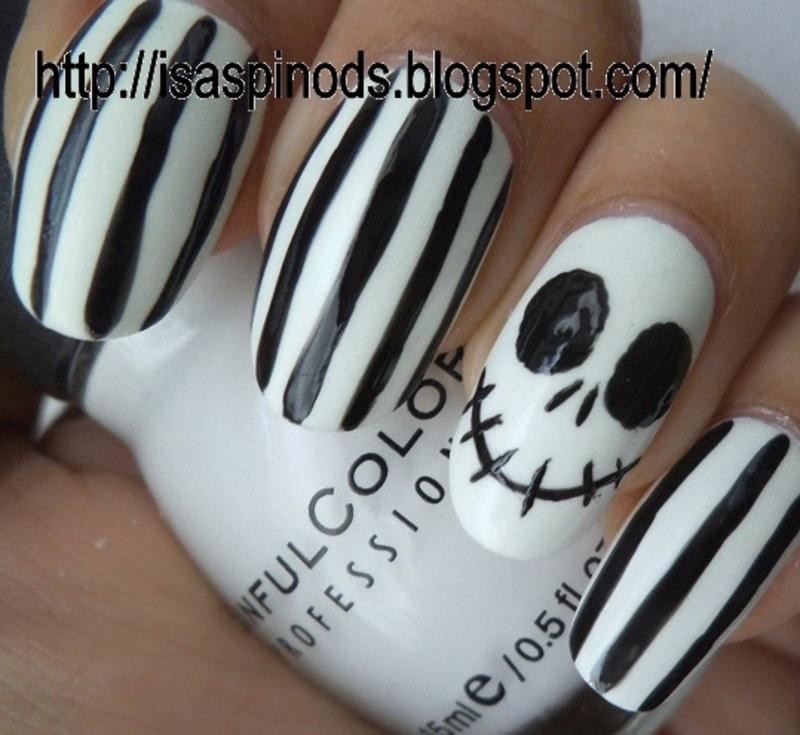 Jack! (Inspiración CutePolish) nail art by Isabel