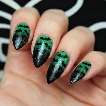 Bats nail art by Jane