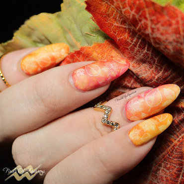The First of Fall nail art by Karolyn