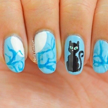 Purr-fect Nails for Halloween nail art by NailsContext