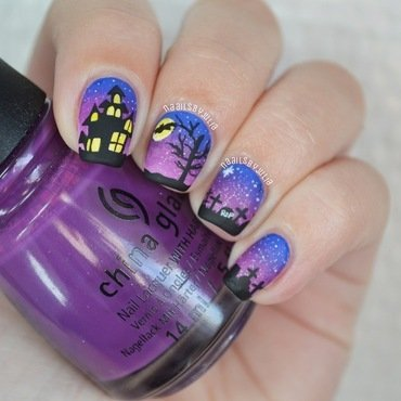 Halloween nail art by Julia