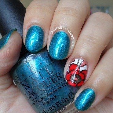 Turquoise 20with 20floral 20stamping 20decal 20accent 20nail 20art thumb370f
