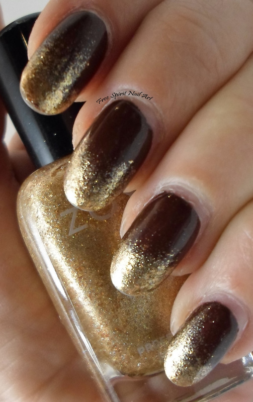 Gold Dusted Tips nail art by Free_Spirit_Nail_Art