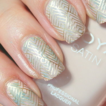 Matte smoosh with stamping  nail art by Polished Polyglot