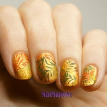 Autumn leaves nail art by MatMaja
