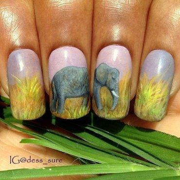 Baby tusks nail art by Dess_sure
