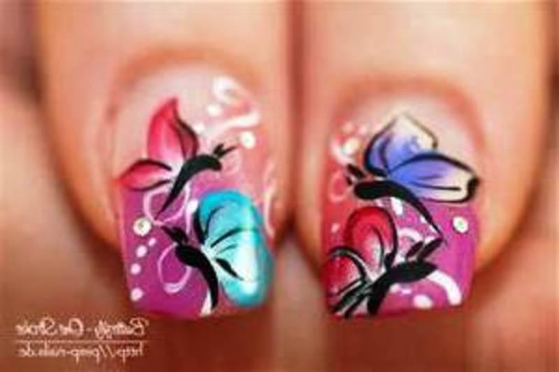 Butterfly Nail Art Designs Nail Art By Helena Meyer Nailpolis