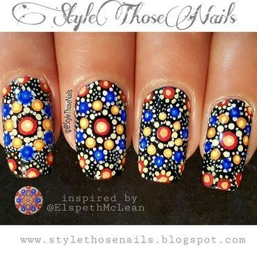 Mandala Nails/ Dotticure nail art by Anita Style Those Nails