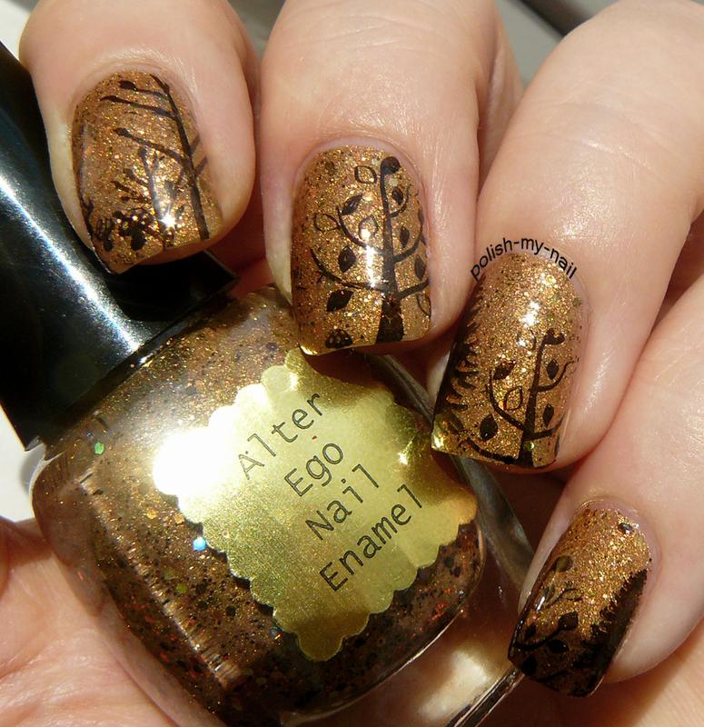 Autumn nail art by Ewlyn