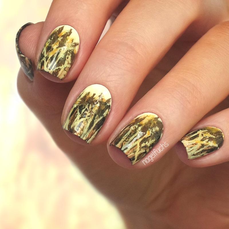 Golden Cornfield nail art by nagelfuchs