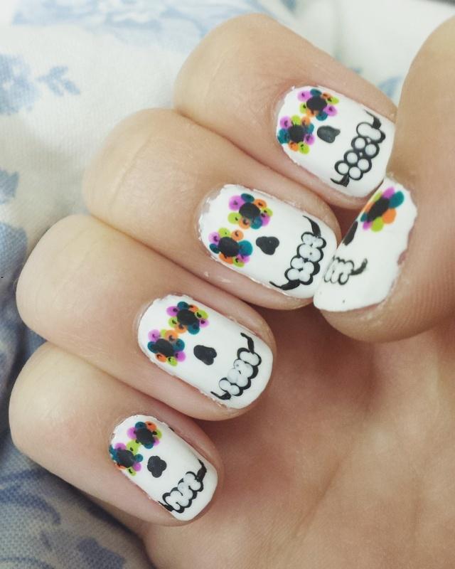 OCTOBER: Dia de Los Muertos Edition nail art by Clarissa W ...