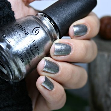 China Glaze Check out the silver fox Swatch by Romana