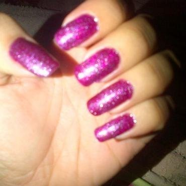 More fucsia nail art by Andreea