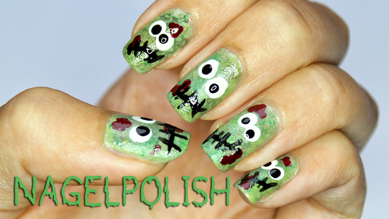 Zombie Nails nail art by Nagel Polish - Zombie Nails Nail Art By Nagel Polish - Nailpolis: Museum Of Nail Art