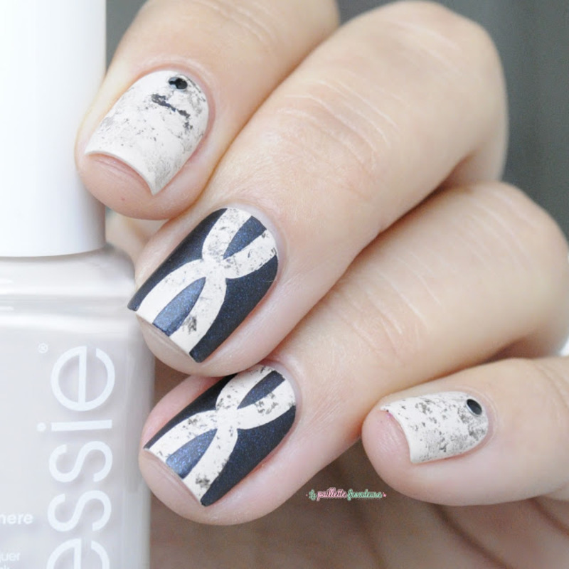 chromosome marble nails nail art by nathalie lapaillettefrondeuse