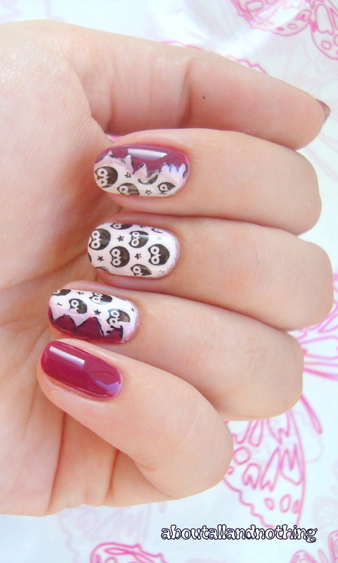 Owls undercover :) nail art by Kasia