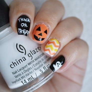 Halloween nails nail art by Julia