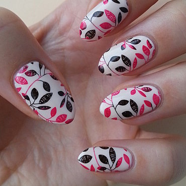 Two Colored Stamping nail art by Mgielka M
