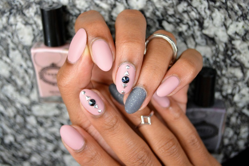 Matted Chic nail art by Fatimah