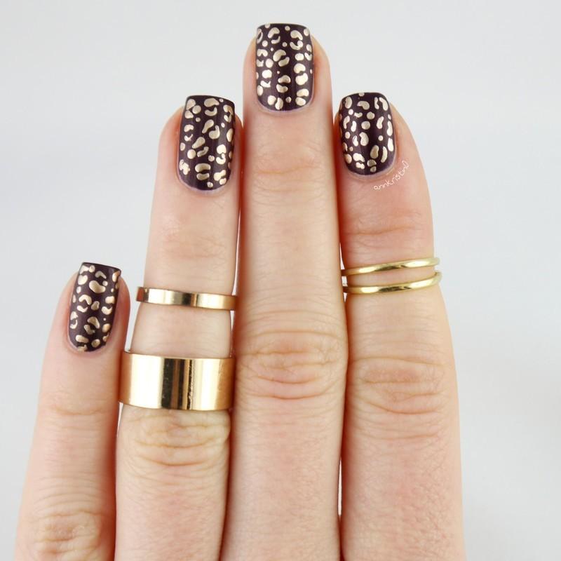 Matte Animal Print Nail Art nail art by Ann-Kristin