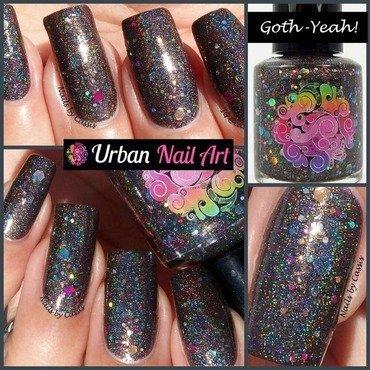 Urban Nail Art (UNA) 'Goth-Yeah!' Swatch by Lou