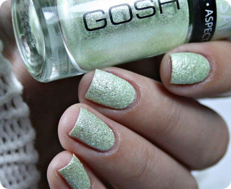 GOSH Frosted Nail Lacquer 09 Frosted Soft Green Swatch by Romana ...