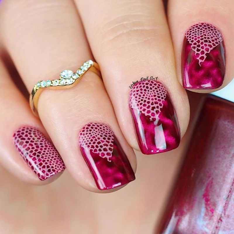 Laces On Magnetic Polish nail art by Lou - Nailpolis: Museum of Nail Art