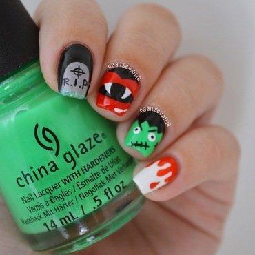 Halloween nail art by Julia