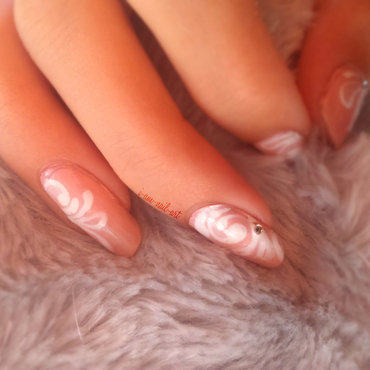 Pink arabesque nail art by i-am-nail-art