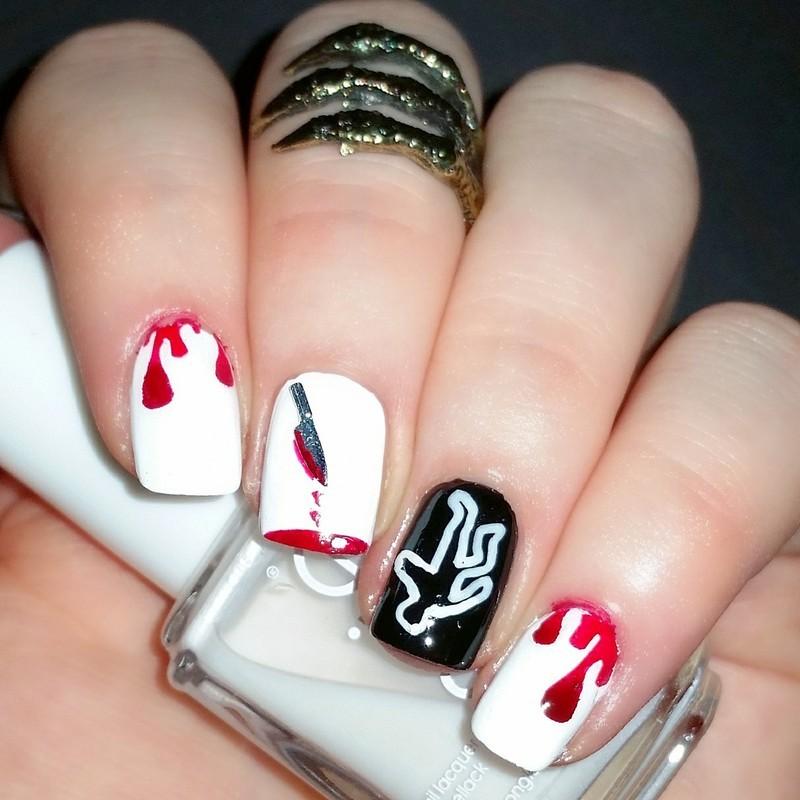 Murder nails nail art by nailicious_1