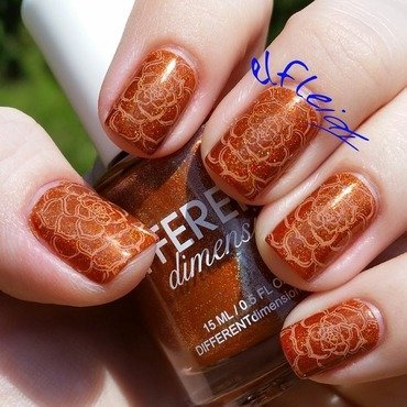 Can you smell the pumpkin pie?! nail art by Jenette Maitland-Tomblin