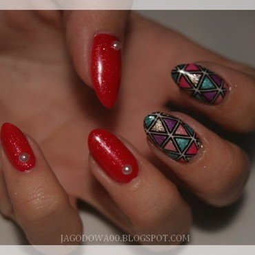 31DC2015 - Geometric nail art by Jadwiga